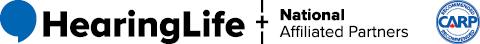 HearingLife Logo and National Affiliated Partners CARP