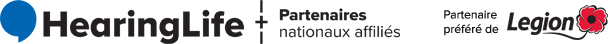 HearingLife Logo and National Affiliated Partners - Preferred Partner of Legion