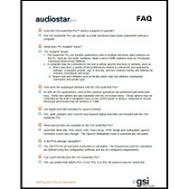 AudioStar Pro Frequently Asked Questions