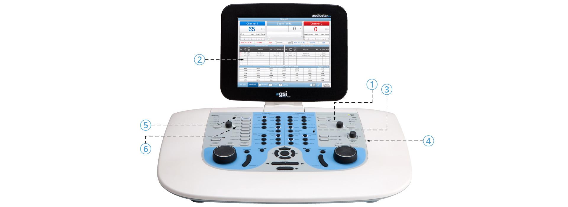 GSI AudioStar Pro Clincal Audiometer Features
