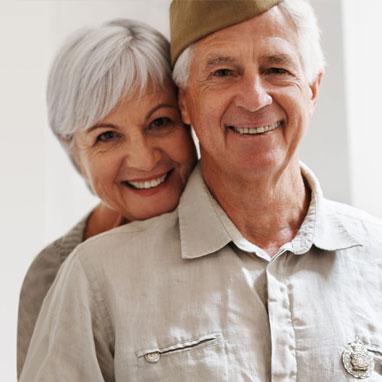 veteran wearing hearing aids