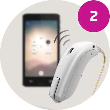 imagespot-Oticon ON App on phone connecting with Opn hearing aid step 2