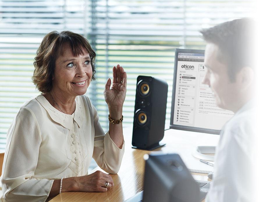 test auditif avec un audioprothésiste